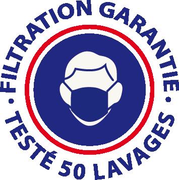 Filtration garantie - Testé 50 lavages