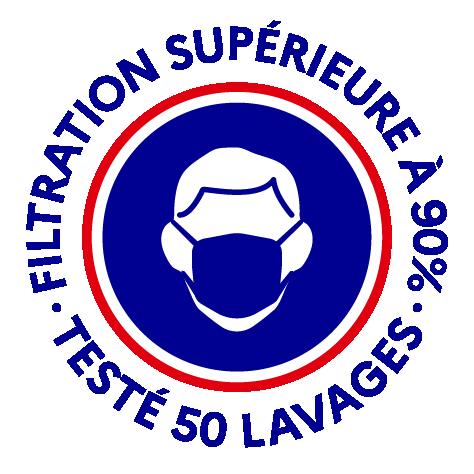 Logo filtration >90% 50 lavages